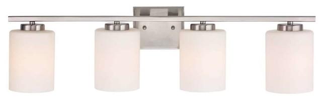 Dolan Designs Chloe 4-Light Bath Bar In Satin Nickel.