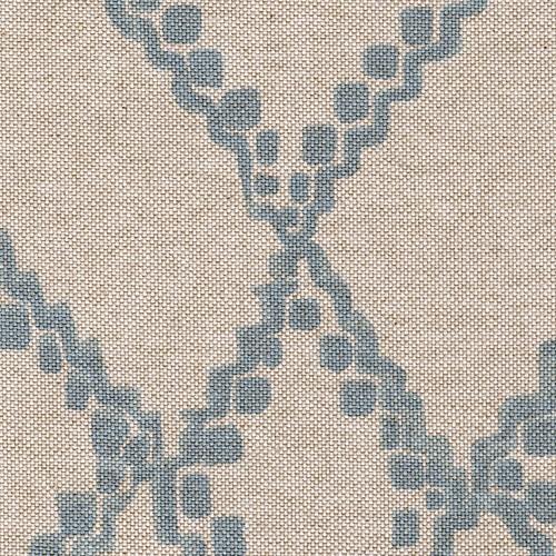 Reversible Duvet Cover Medina Swedish Diamond Geometric Cotton, Blue, King