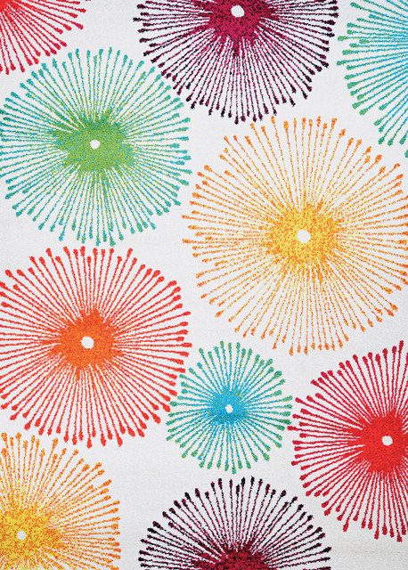 "Spectrum Illuminations Bold Patterned Area Rugs, 2'x3'7"""