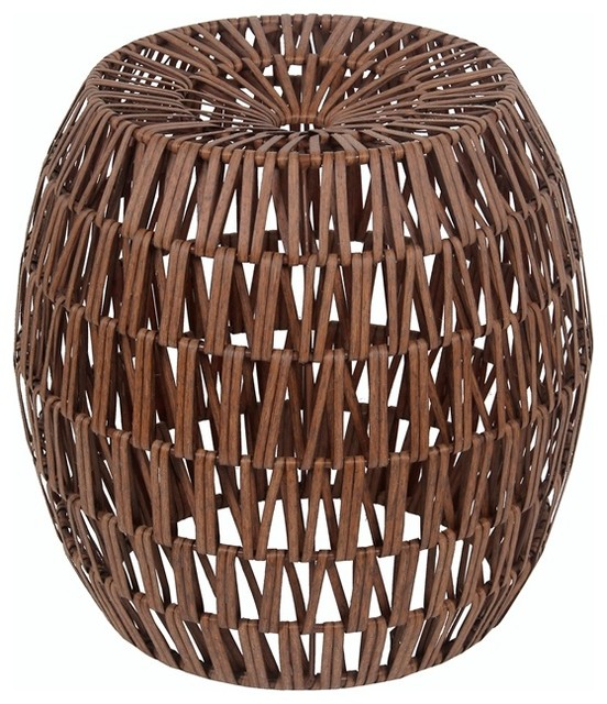Resin Wicker Stool - Tropical - Accent Chests And Cabinets - by Privilege International