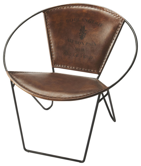 Leather Accent Chair industrial armchairs and accent chairs. Butler Specialty Company Leather Accent Chair   Armchairs And