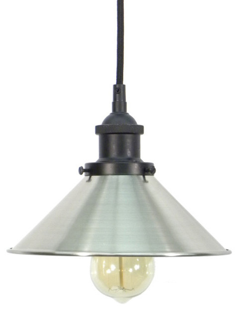 Black Nickel Shade Pendant Light Farmhouse Ceiling Lighting by Hangout