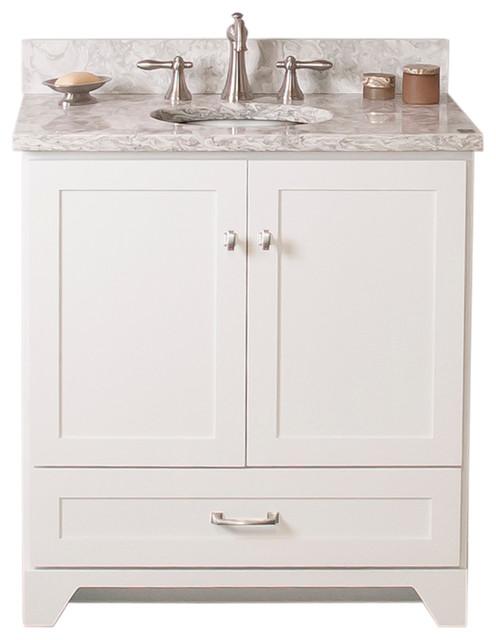 Bathroom Vanities 24 X 16 woodpro vanity with cambria quartz top in berwyn - transitional