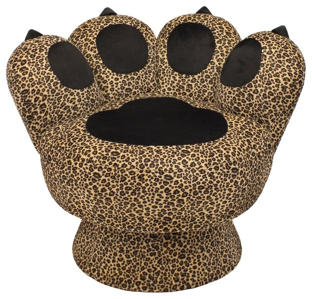 Leopard Print Paw Chair