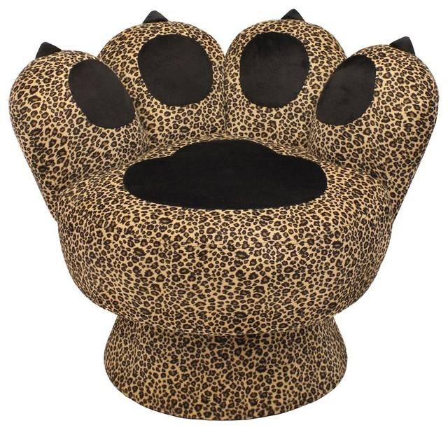 Leopard Print Paw Chair