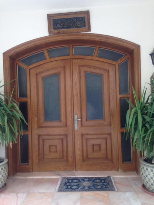 Changing Front Design Of House Part - 27: I Want To Change My House Front Door To A More Contemporary Designed Door,  But The Top Curve Is Limiting My Ideas, Because I Canu0027t Change The Shape Of  The ...