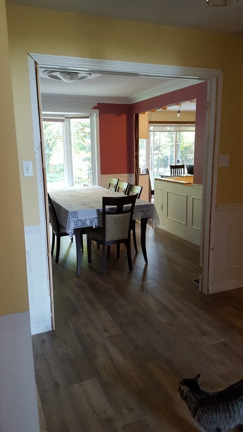 View From Front Entry Hall Into Dining Room