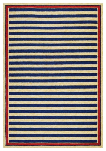 Couristan Covington Area Rug NavyRed Contemporary