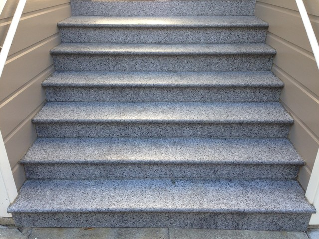 Granite Entry Staircase Cleaning, Sealing And Caulking Application  Traditional