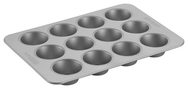 Cake Boss Professional Nonstick Bakeware 12-Cup Muffin Pan, Silver