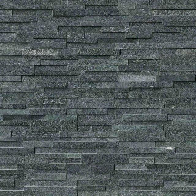 Coal Canyon Panel 3D Honed 6X24, Quartzite, Ledgers