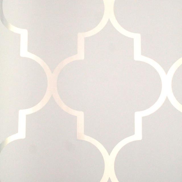 Astek Mood Living Alahambra Silver Reflective Wallpaper