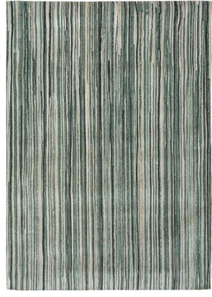 Atlantic Ocean 8592 Rug, Green Stripe, 140x200 cm