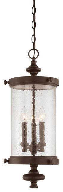 Palmer 3-Light Outdoor Pendants/chandeliers, Walnut Patina.