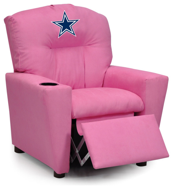 Dallas Cowboys Pink Kids Recliner traditional-game-room-and-bar-decor  sc 1 st  Houzz & Dallas Cowboys Pink Kids Recliner - Traditional - Game Room And ... islam-shia.org