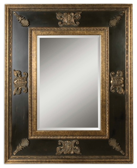 Extra Large 60 Quot Ornate Black Gold Wall Mirror Oversize