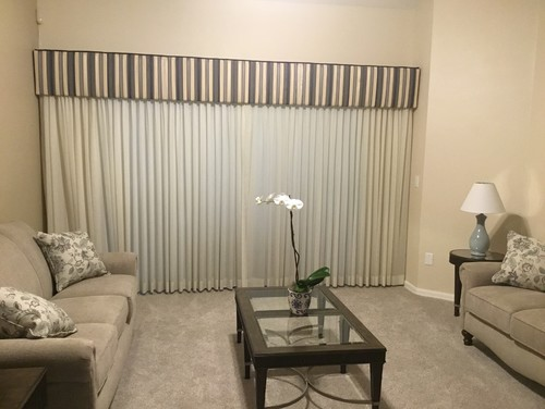 They Also Do Banded Drapes Where You Can Incorporate Two Colors. I Am Open  To Suggestions Other Than Them But Having A Hard Time Finding Other Side  Options.
