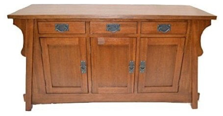 Arts And Crafts Mission Solid Oak Crofter Style Sideboard Sofa Table