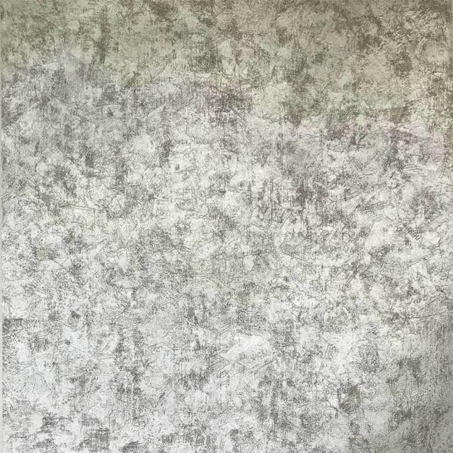 Wallpaper Silver Grey Metallic Foil Plain Concrete Textured