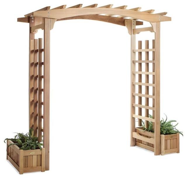 All Things Cedar 6' Garden Pagoda Arbor With Planters