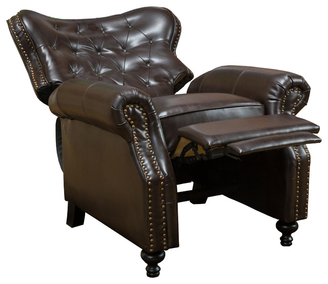 Waldo Club Chair Brown traditional-recliner-chairs  sc 1 st  Houzz & Waldo Club Chair Brown - Traditional - Recliner Chairs - by GDFStudio islam-shia.org