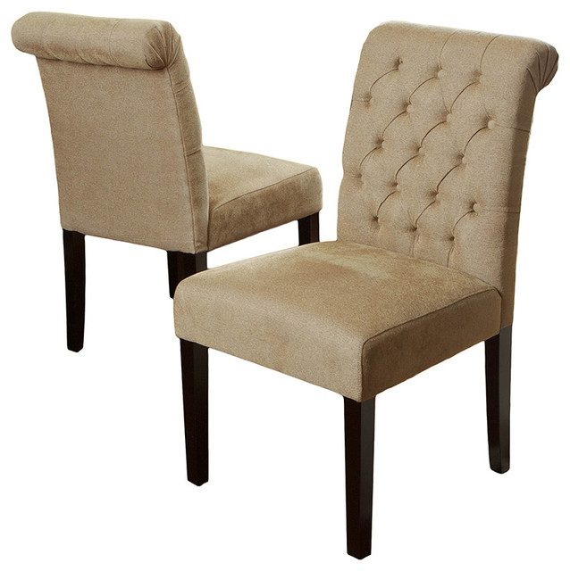 Elmerson Roll Back Dining Chairs Set Of 2 Traditional