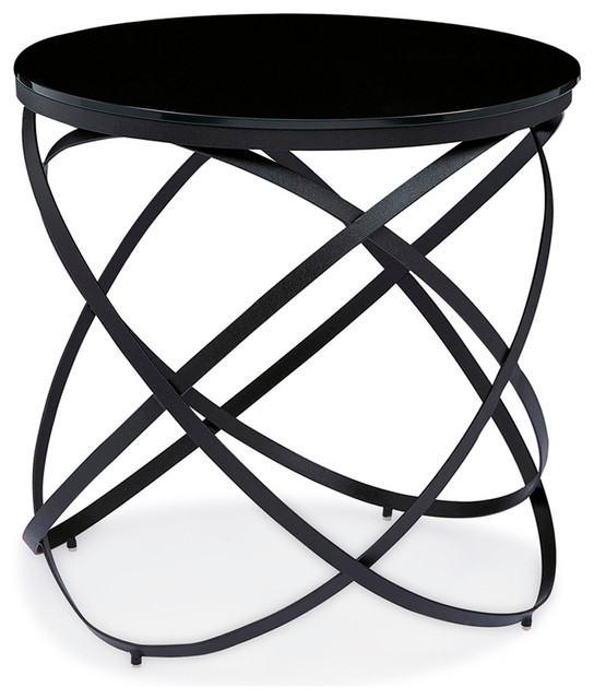 End Table With Black Tempered Gl