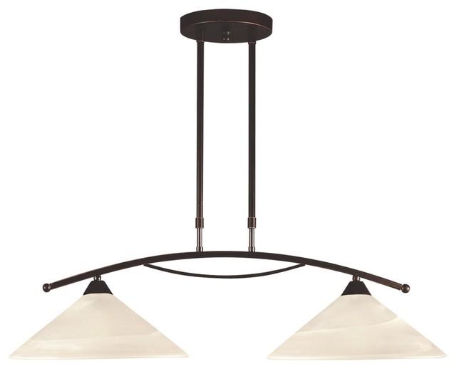 Feiss Bristol 2 Light Vanity Fixture In Oil Rubbed Bronze: 2 Light Standard Bulb Island Light In Oil Rubbed Bronze