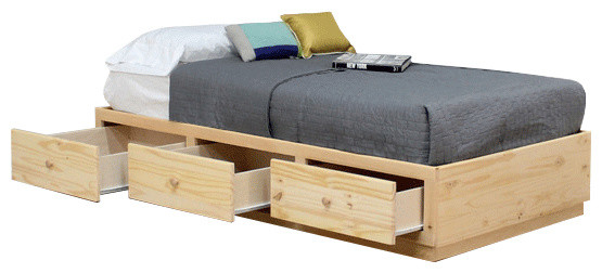 Twin Captains Bed With 3 Drawers Contemporary Bed