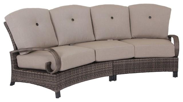 Curved Sofa Tropical Outdoor Sofas