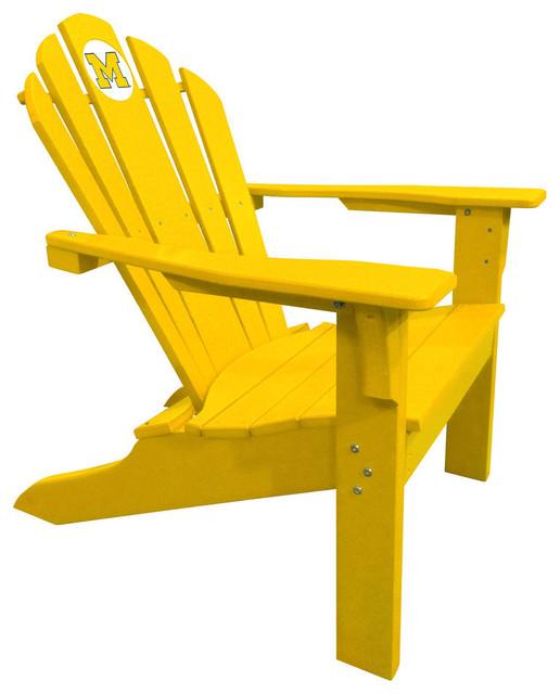 Michigan Wolverines Big Daddy Yellow Composite Adirondack