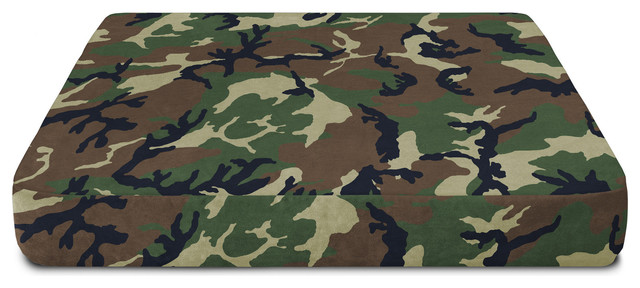 Buddy Bed Memory Foam Crate Pad With Camouflage Nylon Waterproof