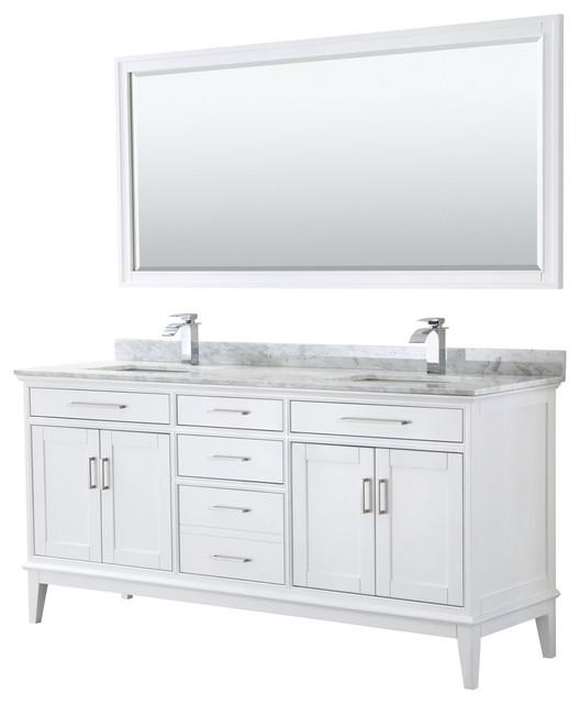 Margate 72 Inch Double Vanity With 70, 70 Bathroom Vanity