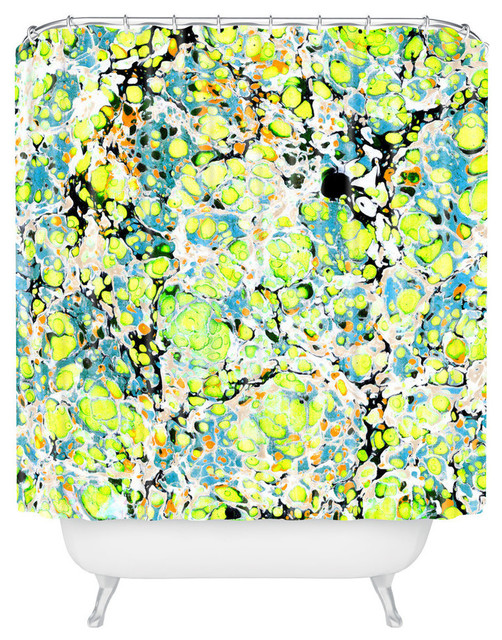 Amy Sia Marble Bubble Neon Shower Curtain