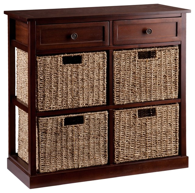 Kenton 4-Basket Storage Chest - Beach Style - Storage Cabinets - by Furniture Domain