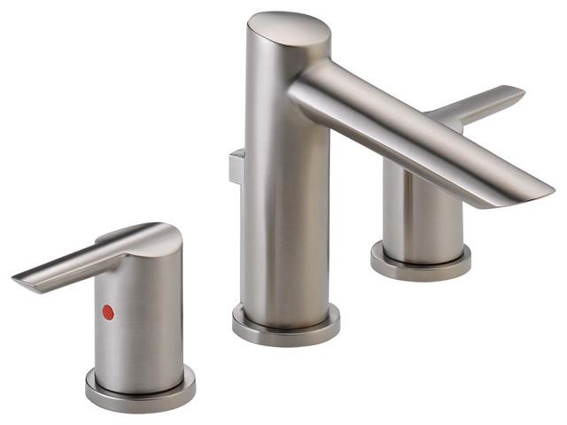 Delta Faucet Delta Widespread Bath Faucet W Metal Pop Up 3561 Ssmpu Dst Bathroom Sink