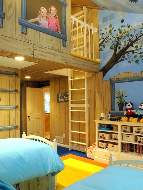 Tree House Bedroom Mural By Tom Taylor Of Mural Art LLC, Hand Painted In