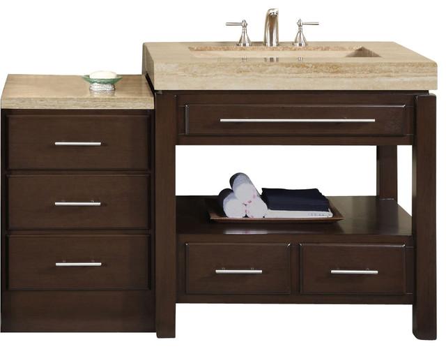 Sierra Single Sink Bathroom Vanity In Dark Walnut