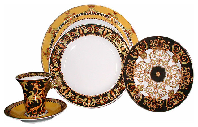Versace Barocco Dinner Plate Traditional Plates By