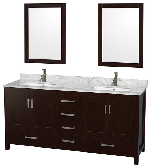 Sheffield 72 double bathroom vanity transitional bathroom vanities and sink consoles by for Sheffield 72 double bathroom vanity