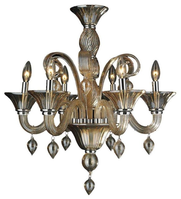 Murano venetian style 6 light blown glass in amber finish murano venetian style 6 light blown glass in amber finish chandelier 23 x 27 mozeypictures Choice Image