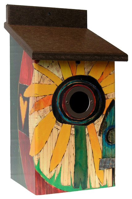 Sunflower Bird House Modern Birdhouses By Garden