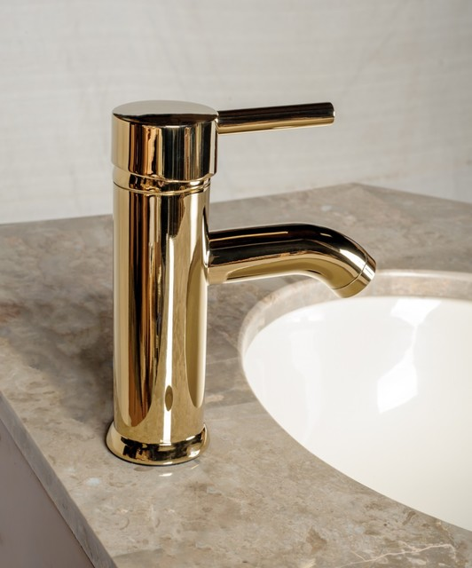 Bathroom Faucet Gold faucets brass pvd round single lever - modern - bathroom faucets