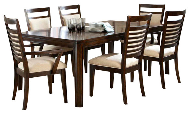 Standard Furniture Avion 7 Piece Dining Room Set In Cherry