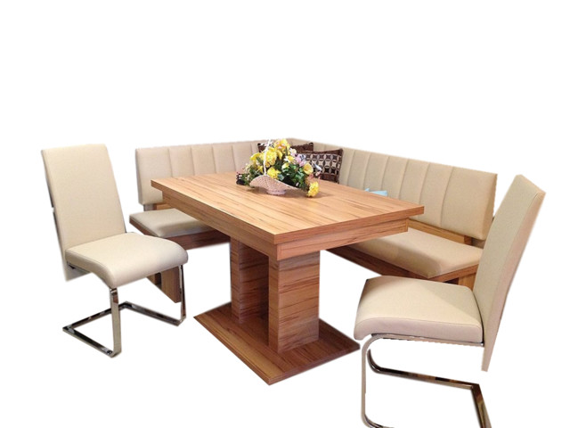 German Furniture Warehouse   Falco Modern 4 Piece Breakfast Nook Set, Beige    Dining Sets