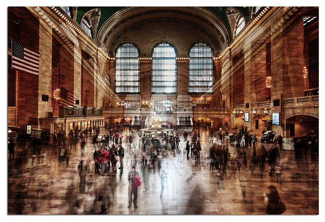 Tempered Glass Wall Art 3d Grand Central Station New York