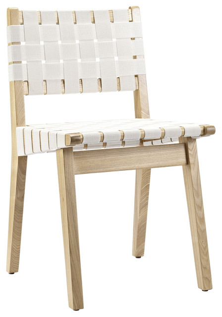 weave side chair white - White Wood Dining Chairs