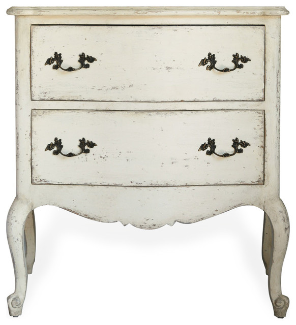 Clementine french country antique white 2 drawer nightstand end clementine french country antique white 2 drawer nightstand end table old crme watchthetrailerfo