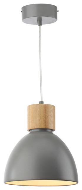 Albany iron and wood bell pendant lamp gray large modern albany iron and wood bell pendant lamp gray large aloadofball Gallery