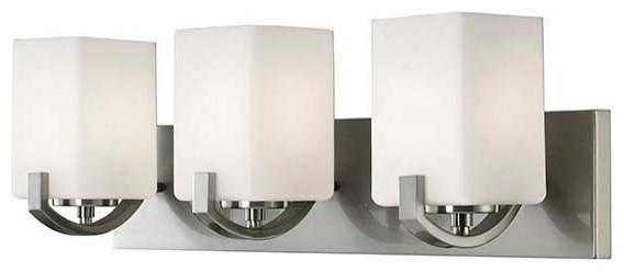 "Canarm IVL422A03 Palmer 3 Light 24""W Bathroom Vanity Light - Nickel"